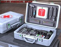 Sci Fi Medical Gear is a machinery equipment, Sci-Fi/futuristic, industrial equipment, props for Daz Studio or Poser created by Science Fiction, Arte Tech, Industrial Espionage, Susanoo Naruto, Spaceship Interior, Sci Fi Environment, Sci Fi Weapons, Medical Technology, Technology Gadgets