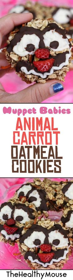 , Muppet Babies Animal Carrot Oatmeal Cookies - The Healthy Mouse , Enjoy these Muppet Babies Animal Carrot Oatmeal cookies during a Disney Junior Muppet Babies viewing party! They are healthy, vegan, and gluten-free! Disney Party Foods, Disney Desserts, Disney Diy, Disney Food, Disney Pixar, Disney Magic, Easy Meals For Kids, Kids Meals, Muppet Babies