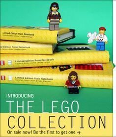super cute, Moleskine x Lego noteboooks