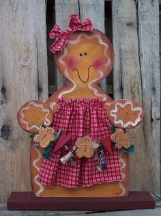 Gingerbread Man with all Her Friends Banner / Garland Wood Craft Pattern for Winter and Christmas