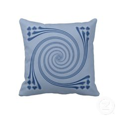 Slate Blue Whirligig Sofa Pillow by Just for Mom