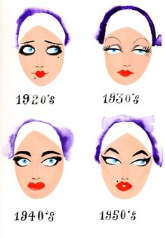 make up 1920's to 1950's