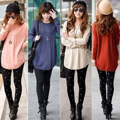 Women Round Neck Long Sleeve Knitted Pullover Jumper Loose Sweater Knitwear Tops #unbrand #Cardigans