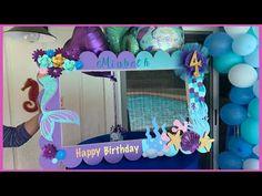 Mermaid Birthday Party Decorations Diy, Little Mermaid Decorations, Mermaid Theme Birthday, Diy Baby Shower Decorations, Little Mermaid Parties, 10th Birthday Parties, Birthday Party Themes, Birthday Party Invitations, Ideas