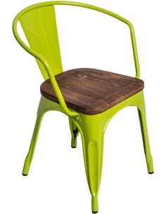 Krzesło Paris Arms Wood ziel jasny sosna