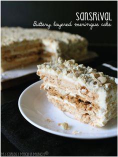 My all time favorite filipino dessert! Sansrival (Buttery, layered meringue cake)