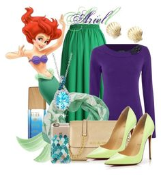 """Princess Ariel - The little mermaid!"" by aphrodite-shomaly ❤ liked on Polyvore featuring beauty, Alterna, Chicwish, Lauren Ralph Lauren, Pistil, Casetify, Michael Kors, Christian Louboutin, ki-ele and LE VIAN"