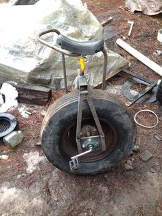 How to Build a Car Tire Unicycle Monocycle, Simple Life Hacks, Bike, Bicycles, Design, Unicycle, Bicycle, Biking