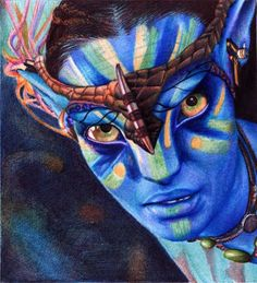 """Neytiri from the Na'vi. Avatar. Bic Ballpoint pen"" (http://vianaarts.deviantart.com/art/Neytiri-from-the-Na-vi-Avatar-Bic-Ballpoint-pen-281087229?q=gallery%3Avianaarts%2F34897854=5) ""Took aprox. 5 hours to finish."""