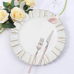 Accent your party tables with classic round charger plates from Leilani Wholesale! Featuring a stylish scalloped rim design, these lightweight charger plates will enhance the appearance of your reception tables.