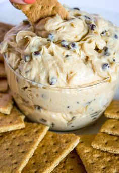 Easy to make, this buckeye dip is filled with peanut butter, cream cheese and lots of chocolate chips. Serve with graham crackers, teddy grahams or apples. It's the perfect super bowl recipe!