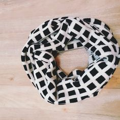 J. Crew Wool Infinity Scarf J. Crew cream and black infinity wrap scarf. Great condition! Wool, acrylic, and nylon mix. J. Crew Accessories Scarves & Wraps