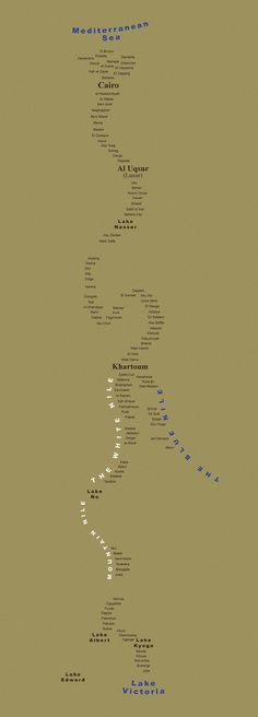 TypeMap of the Nile River by Andy Proehl