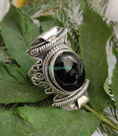 Black Onyx Ring, 925 Silver Ring, Antique Ring, Birthday Ring, Anniversary Ring, Onyx Jewelry, Unique Piece Ring, Healing Ring, Lovely Ring, Dainty Ring, Wedding Ring Large Wedding Rings, Wedding Rings Vintage, Gypsy Rings, Boho Rings, Black Onyx Ring, Black Rings, Boho Gypsy, Bridesmaid Rings, Antique Rings