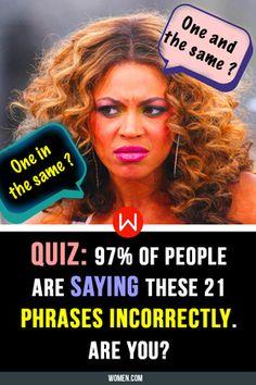 Quiz: Of People Are Saying These 21 Basic Phrases Incorrectly. Language Quiz, English Language Test, English Quiz, Learn English, Riddle Puzzles, Finish The Lyrics, Lord Of Hosts, American English, Teaching Writing