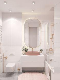 Bathroom Design Luxury, Bathroom Design Small, Bathroom Layout, Home Interior Design, Bathroom Ideas, Bathroom Organization, Bathroom Furniture, Bathroom Tower, Pink Bathroom Interior