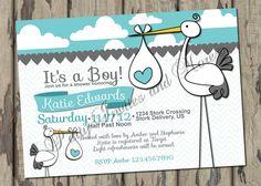 Baby Shower Stork Invitation by PartyInvitesAndMore on Etsy, $10.00