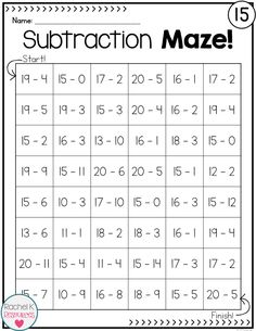 5 Subtraction Worksheets for Grade 3 Subtraction Practice Mazes √ Subtraction Worksheets for Grade 3 . 5 Subtraction Worksheets for Grade 3 . Subtraction Practice Mazes in 2nd Grade Worksheets, 2nd Grade Math, Second Grade, Grade 2, Kindergarten Worksheets, Printable Worksheets, Number Worksheets, Free Worksheets, Free Printable