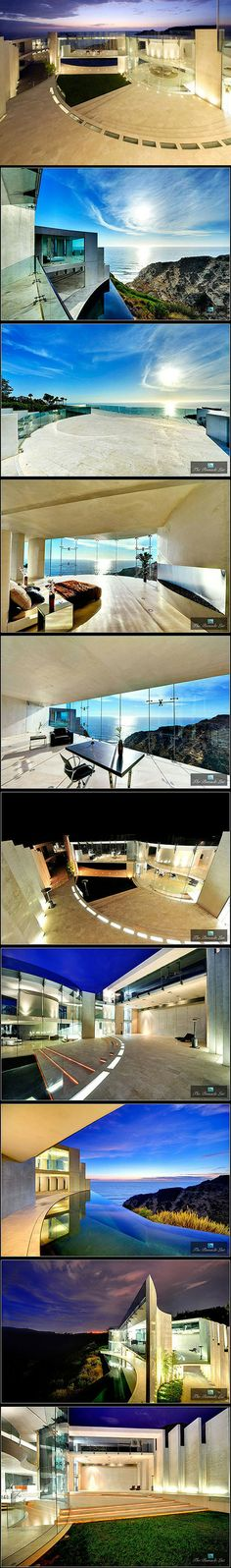 """The real-life Iron Man was inspired by the famous architect Wallace E. Cunningham. The 11,000-square-foot house in La Jolla, California is called """"The Razor"""" and took six years to build. It was completed in 2008 and features white polished concrete with spectacular panoramic windows designed to embrace sweeping ocean views. Did you think Tony would settle for anything less?"""