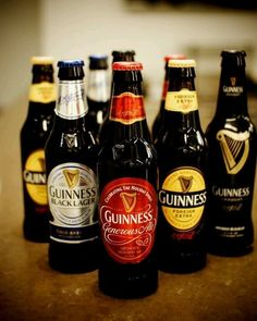 Guinness Beers, ales, & stouts