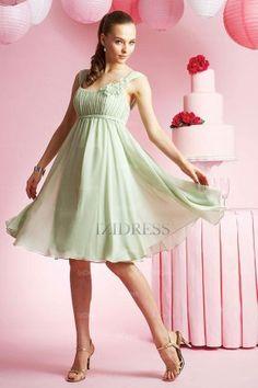 Sheath/Column Straps Chiffon Bridesmaids Dress - IZIDRESSBUY.COM at IZIDRESSBUY.com
