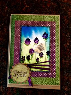 Hand drawn clovers on watercolor background sympathy card
