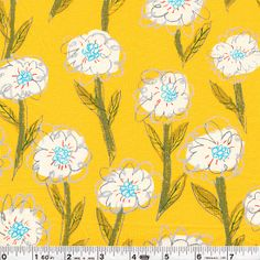 Keiko Goke - Marguerite - Yellow  Inspired quilt artist and fabric designer Keiko Goke has designed this fun fabric collection. Japanese fabric