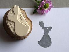 Stempel Hase // stamp bunny by Rotkehlchen via DaWanda.com