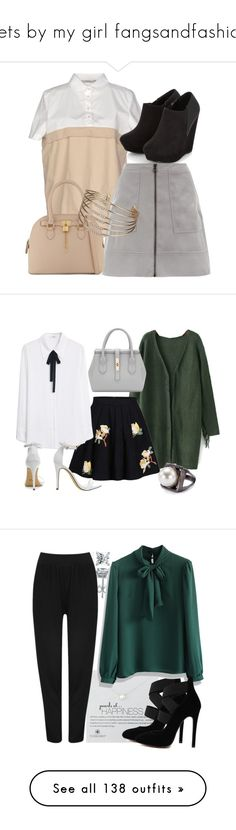 """""""Sets by my girl fangsandfashion"""" by samtiritilli ❤ liked on Polyvore featuring Alpha Studio, ALDO, Miss Selfridge, casual, pearl, vampirediaries, pearlzhu, MANGO, Chico's and BERRICLE"""