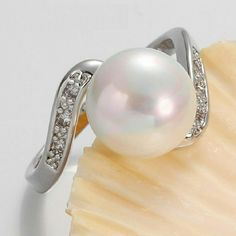 Pearl Band - Gold plated Round Pearl Band. Wt. 3.2 grams  Gender women Style romantic Ring type wedding band. Gold plated Jewelry Rings