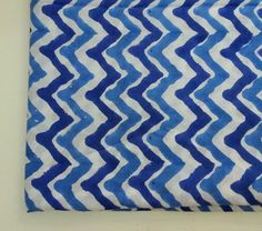 A personal favourite from my Etsy shop https://www.etsy.com/in-en/listing/269185094/blue-chevron-block-printed-indian-cotton