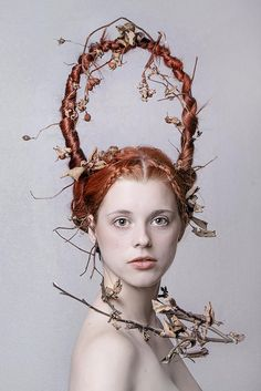 Rose Red by Lotta van Droom Avant Garde Hair, Editorial Hair, Hair Shows, Creative Hairstyles, Crazy Hair, Hair Art, Hair Designs, Headdress, Redheads