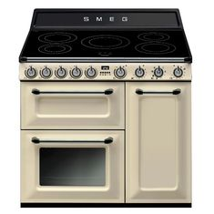Buy the Smeg TR93IP 90cm Victoria Electric Range Cooker in Cream from Sonic Direct for only £2,199.00 today.