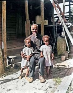 Cudjo Lewis (1841-1935) was among the last survivors of the last slave ship to reach the U.S. After the Civil War he was one of the group of former captives who founded the community that became known as Africatown near Mobile, Alabama. (Colorized by Steve Smith) Colorized History, John Douglas, Dauphin Island, Spotted Dog, Mobile Alabama, Steve Smith, Filling Station, University Of North Carolina, Local History