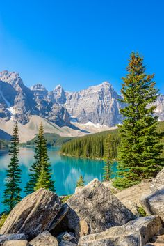 Moraine Lake in Canada Landscape Photos, Landscape Art, Landscape Paintings, Landscape Photography, Nature Photography, Beautiful Nature Pictures, Amazing Nature, Nature Photos, Beautiful Landscapes