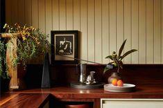 Slate Coffee Table, Built In Sofa, Summit Homes, Bauer Pottery, Green Shutters, Fredrikstad, Copper Lantern, Walnut Slab, Studio Green