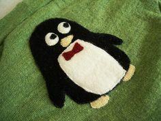Bow Tie Penguin Applique