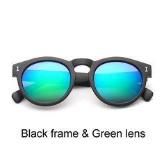 Fashion Illesteva Sunglasses Women Brand Designer Mirror Vintage Retro  Round Sun glasses Eyewear Oculos de sol 456e8411fe