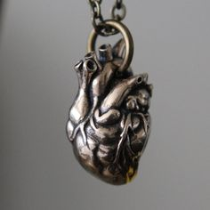 Anatomical Heart Necklace In Solid Bronze by mrd74 on Etsy, $65.00