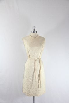 1950's Vintage Wedding Dress  Ivory by VintageFrocksOfFancy, $60.00