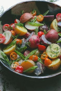 Potato Salad with Dill - from Vegetarian Everyday via a Though for Food