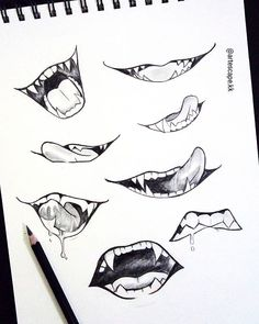 Super Ideas drawing anime mouths - My CMS Anime Drawings Sketches, Pencil Art Drawings, Easy Drawings, Disney Drawings, Anime Sketch, Drawings Of Mouths, Artwork Drawings, Anime Artwork, Cartoon Drawings