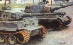 Tiger and King Tiger After War ca 1970