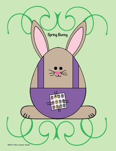 kafy's books: FREE Egg-Shaped Spring Bunny. Templates and directions provided.