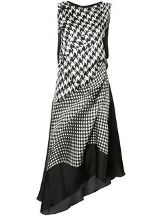 Designer Clothes, Shoes & Bags for Women Silk Dress, Dress Skirt, Dress Up, Classy Outfits, Beautiful Outfits, Dress Outfits, Fashion Dresses, Houndstooth Dress, Elegant Outfit