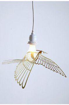 Bird metal light #design #interiordesign #decoration #lamp