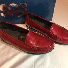 75f118f181afd SAS Red Lipstick Leather  Simplify  Loafers Flats Women s 10 M  fashion   clothing