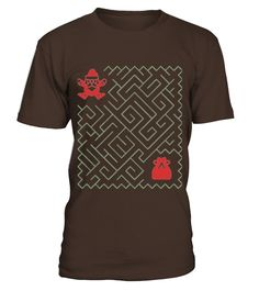 Christmas Maze For Kids T-shirt Santa Deliver The Presents