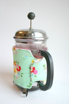 How to sew a French Press Coffee Sleeve