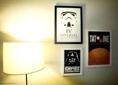 Posters minimalistas do Star Wars para dar a vibe nerd-chique pra sala ♥